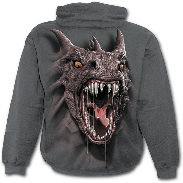 Roar Of The Dragon - Kids Hoody Charcoal