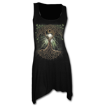 Oak Queen - Goth Bottom Camisole Dress Black