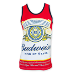 BUDWEISER Men's Bottle Label Tank Top