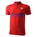 2015-2016 Holland Nike Authentic League Polo Shirt (Red)