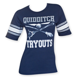 HARRY POTTER Women's Navy Blue Quidditch Tryouts Tee Shirt