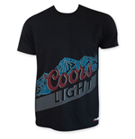 COORS Light Black Lower Half Moutains Logo T-Shirt
