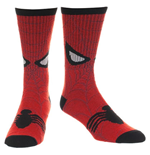SPIDERMAN Mask Print Men's Red Socks