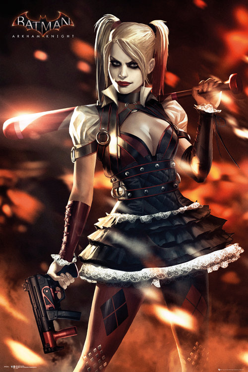 Batman arkham knight harley quinn naked