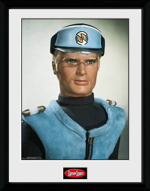 Captain Scarlet Blue Framed Collector Print