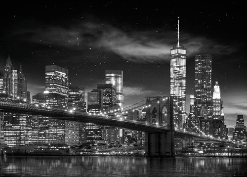 New York Freedom Tower B&W Giant Poster