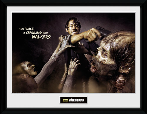 The Walking Dead Glenn Attack Framed Collector Print
