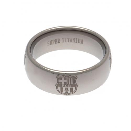 F.C. Barcelona Super Titanium Ring Large