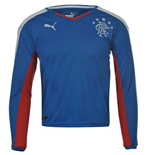 2015-2016 Rangers Puma Home Long Sleeve Shirt (Kids)