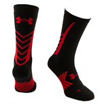 Under Armour 2015 Undeniable Crew Socks (Black-Red)