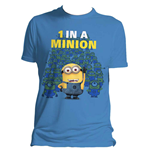 DESPICABLE ME 2 Men's 1 in a Minion T-Shirt, Large, Blue