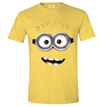 DESPICABLE ME 2 Men's Goggle Face (Daisy) T-Shirt, Medium, Yellow