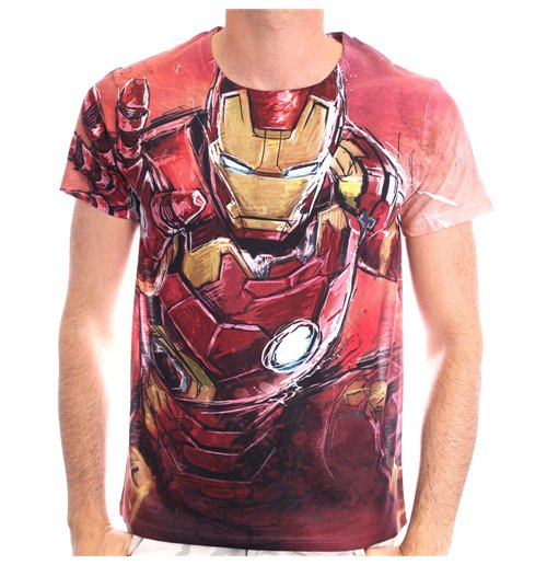Buy Marvel Comics Men S Iron Man Blasting Sublimation