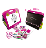 DISNEY Minnie Mouse Double Sided Art Easel with 30+ piece Accessory Set