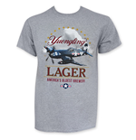 YUENGLING Men's Gray Corsair Airplane T-Shirt
