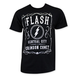 FLASH Men's Black Jack Daniels Style Tee Shirt