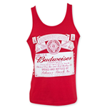 BUDWEISER Men's Red Tank Top