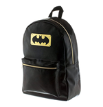 BATMAN Black Bat Logo Metal Plate Backpack