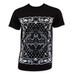 BATMAN Men's Black Bandana Style Tee Shirt