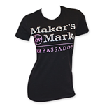 MAKER'S MARK Women's Black Ambassador T-Shirt