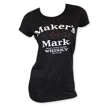 Maker 39 s mark women 39 s black arch logo tee shirt for only for Logo t shirt maker