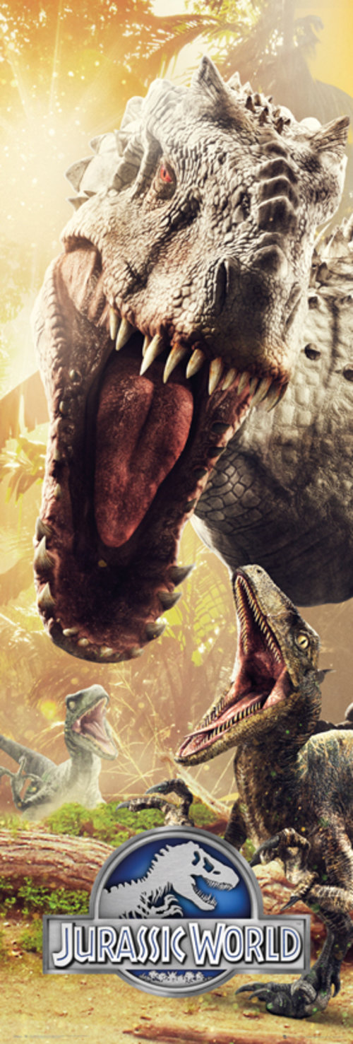 Jurassic World Attack Door Poster