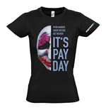 PAYDAY 2 Women's Houston Mask Large T-Shirt, Black