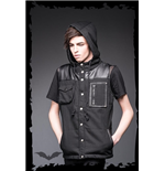 Black Hooded Vest