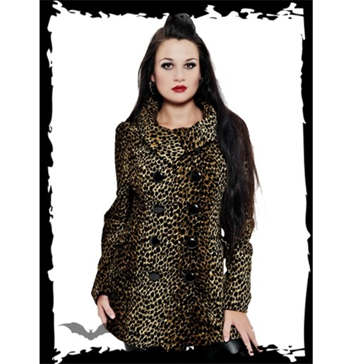 Double-Breasted Leopard Pattern Jacket