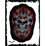 Skull Patch with tribal pattern