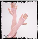 Net Gloves long light pink