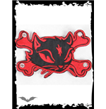 Patch: Large Red Kitty & Crossbones