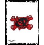 Patch: Red Kitty & Crossbones