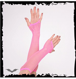 Net Gloves long hot pink