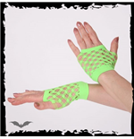 Green double net gloves, short