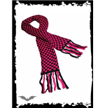 Black & pink chequered scarf