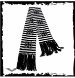 Black/white striped scarf Iron Cross