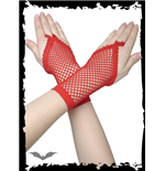 Red net gloves with finger-loop