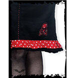 Black Skirt with Polka Dots