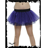 Purple Tutu Style Mini Skirt