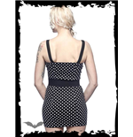 Black Polka Dotted Dress with Belt