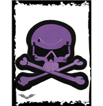 Big purple skull patch for wall or floor