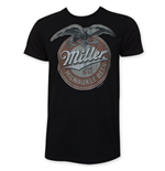 MILLER Milwaukee Beer Logo Black T-Shirt