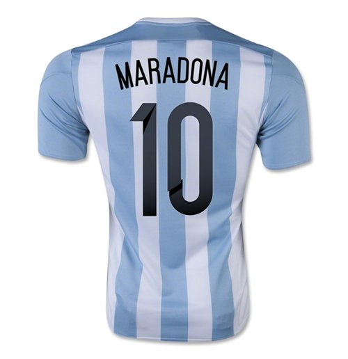 2015-16 Argentina Home Shirt (Maradona 10) - Kids