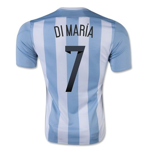 2015-16 Argentina Home Shirt (Di Maria 7) - Kids