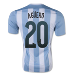 2015-16 Argentina Home Shirt (Aguero 20) - Kids