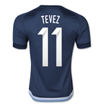 2015-16 Argentina Away Shirt (Tevez 11)