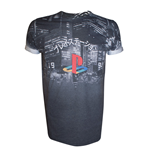 Sony PlayStation T-Shirt City Landscape