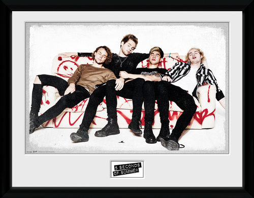 5 Seconds of Summer Sofa Framed Collector Print