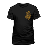 DC COMICS Batman Arkham Knight Gotham City Police Department Badge T-Shirt, Unisex, Extra Large, Black